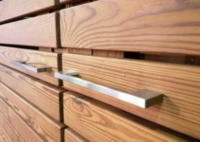 2er Mülltonnenbox Holz