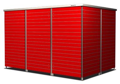 6er Mülltonnenbox carmine red