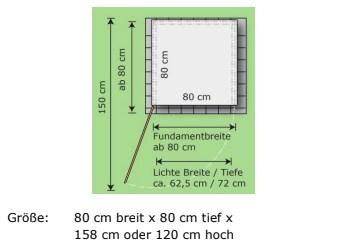 1er Mülltonnenbox Trash Skizze