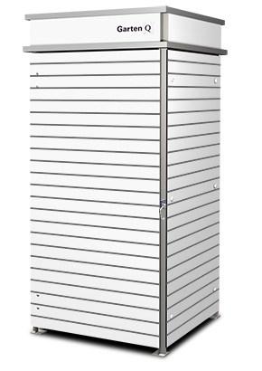 1er Mülltonnenbox Trash white schmale Steifen Pflanzdach