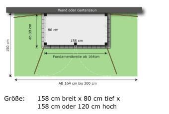 2er Mülltonnenbox Trash Skizze