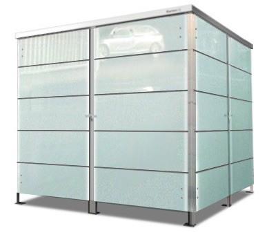 4er Mülltonnenbox Glas