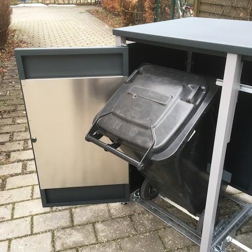 Mülltonnenbox Alu Kippvorrichtung
