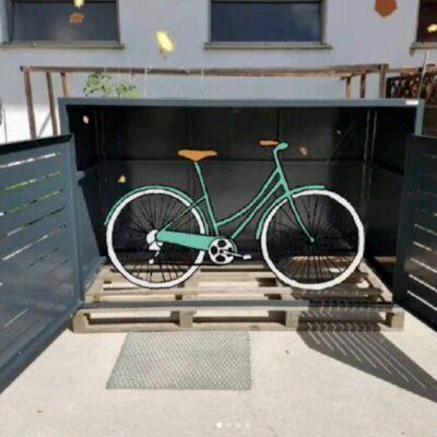 Fahrradbox Metall mit Doppeltür