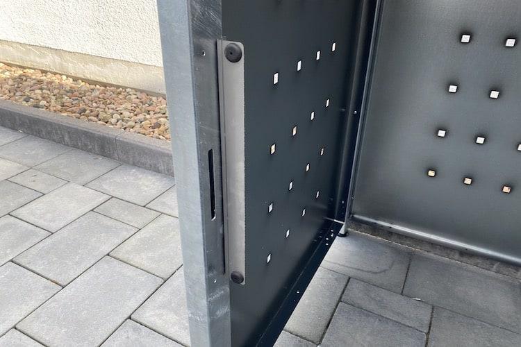 1er Mülltonnenbox Bausatz Anschlag