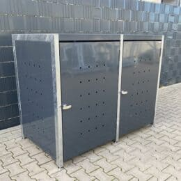 2er Mülltonnenbox Bausatz verzinkt