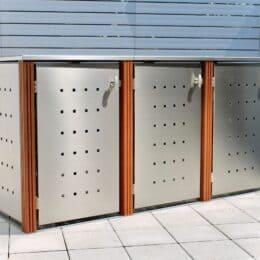 3er Mülltonnenbox Bangkirai