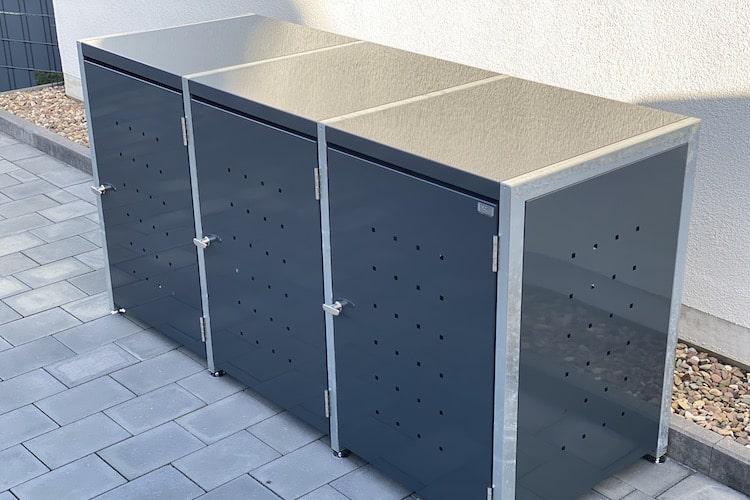 3er Mülltonnenbox Bausatz