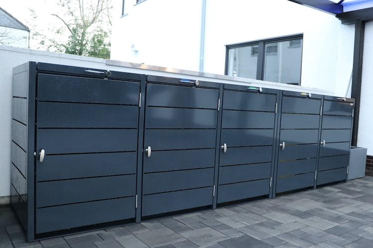 5er Mülltonnenbox Metall Farbe