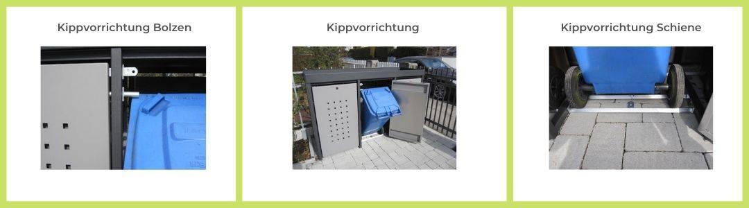 Kippvorrichtung Alu Mülltonnenbox