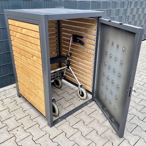 Aufbewahrung für den Rollator