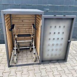 Box für den Rollator Aufbewahrung für den Rollator