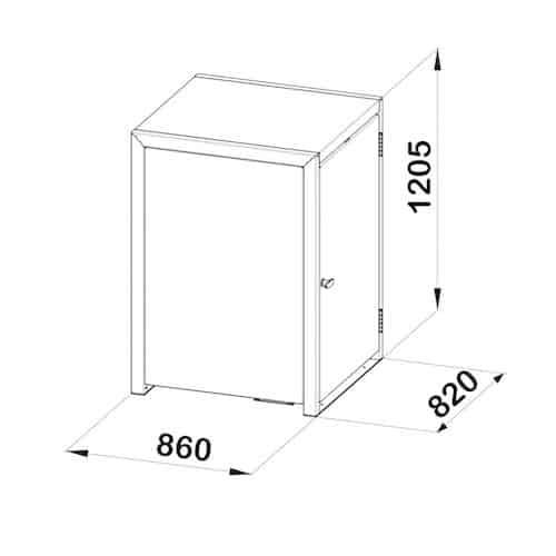 Box für den Rollator - Aufbewahrung für den Rollator
