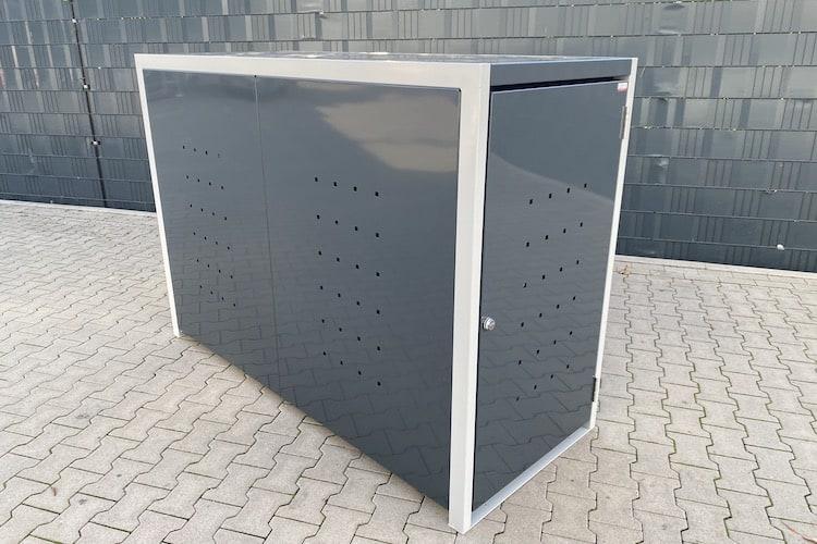 Fahrradbox 1 Fahrrad Metall - schmale Fahrradbox