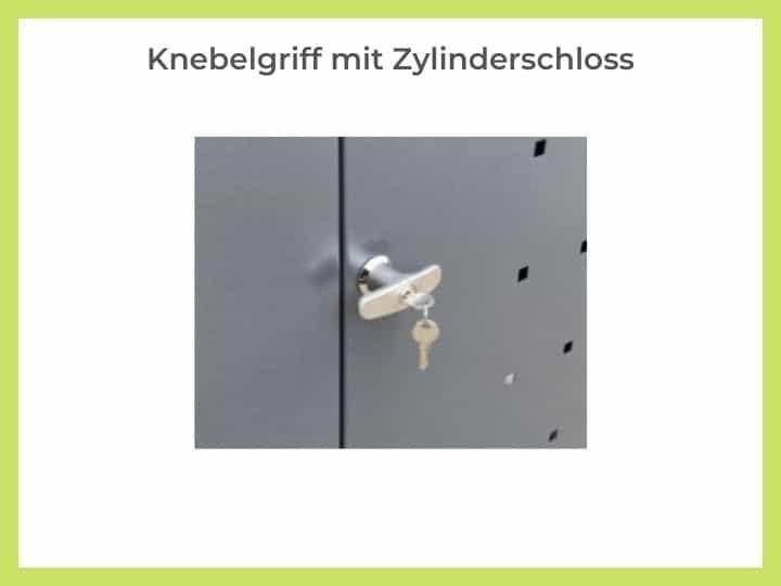 Knebelgriff mit Zylinderschloss