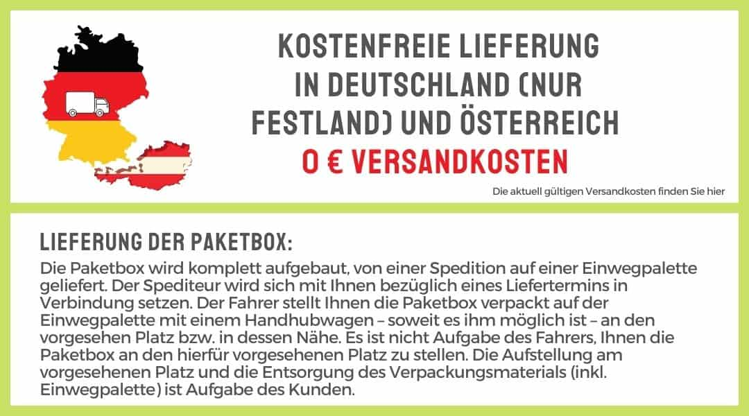 Lieferung Paketbox Edelstahl DE u A