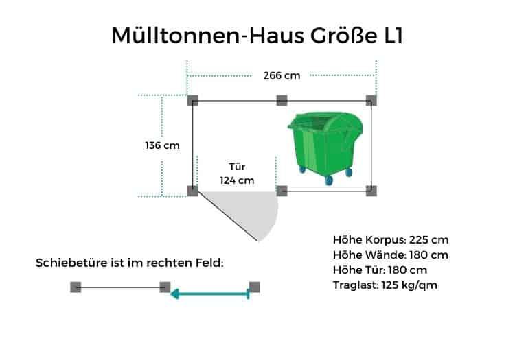 Mülltonnen-Haus Größe L1