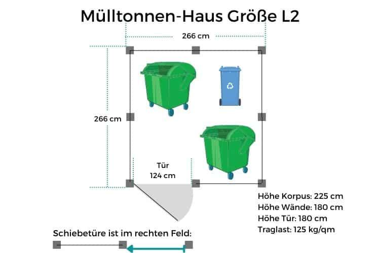 Mülltonnen-Haus Größe L2