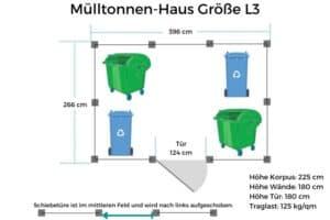 Mülltonnen-Haus Größe L3