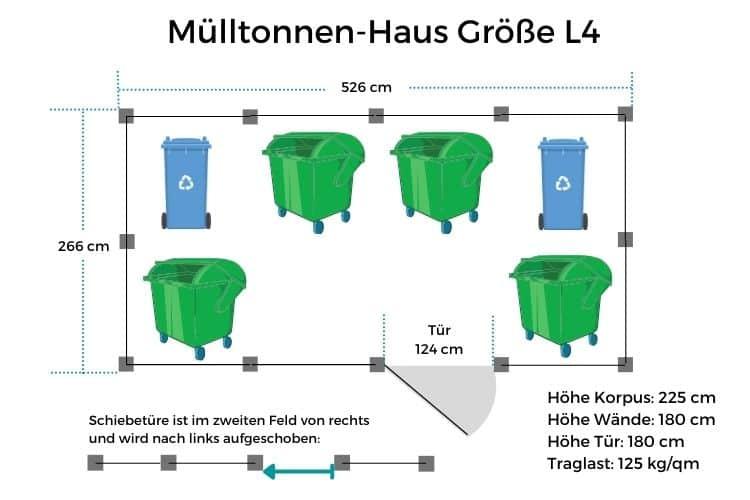Mülltonnen-Haus Größe L4