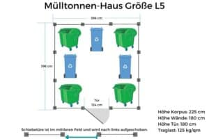 Mülltonnen-Haus Größe L5
