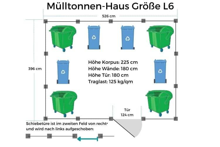 Mülltonnen-Haus Größe L6