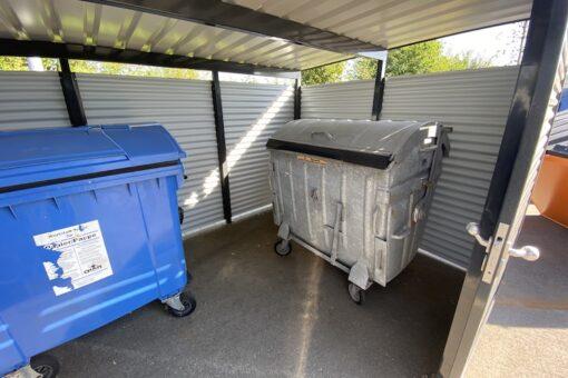 Mülltonnen-Haus Metall Größe L3