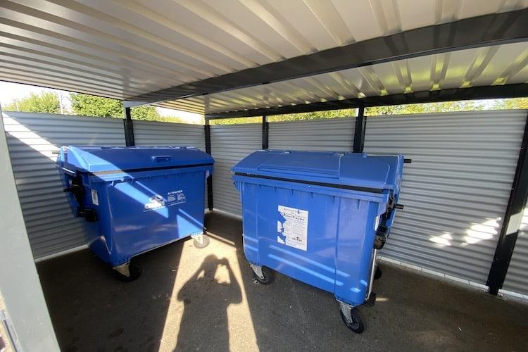 Mülltonnen-Haus Metall Größe L4