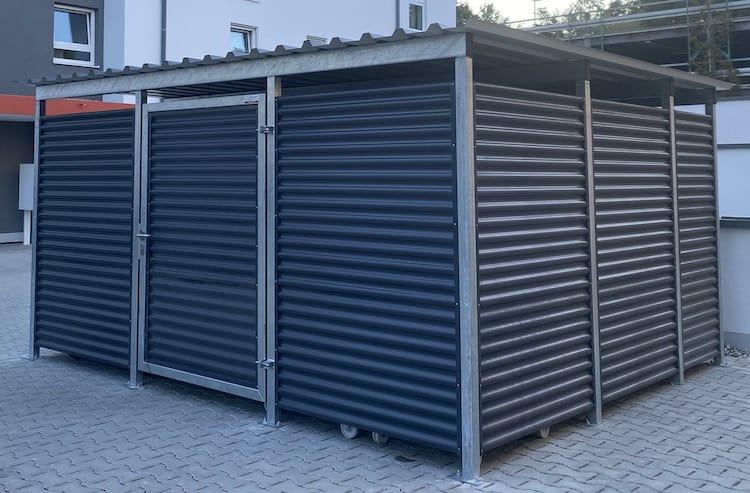 Mülltonnen-Haus Metall Größe L5