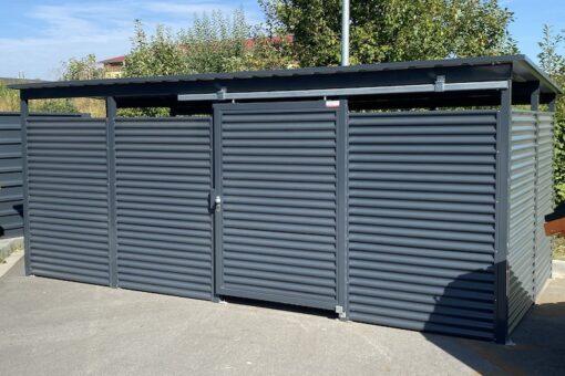 Mülltonnen-Haus Metall anthrazit Größe L4