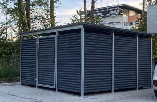 Mülltonnen-Haus Metall anthrazit Größe L5