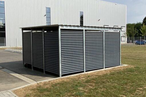 Mülltonnen-Haus Metall silber Größe L5