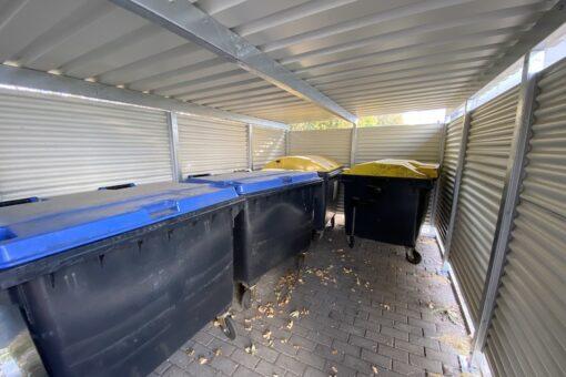 Mülltonnen-Haus silber Größe L3