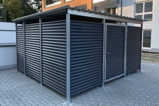 Mülltonnen-Haus anthrazit Größe L5