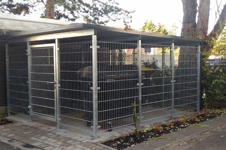 Mülltonnen-Haus grau Größe L5