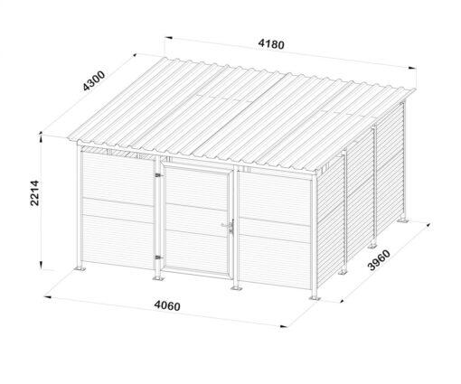Mülltonnenhaus Größe L4