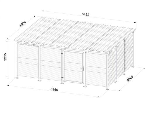 Mülltonnenhaus Größe L6