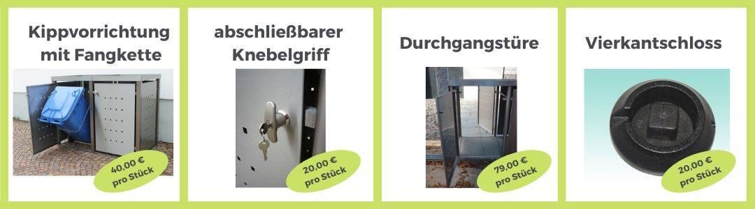Zubehör Edelstahl Mülltonnenbox