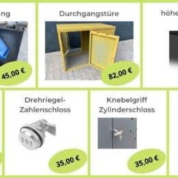 Zubehör Mülltonnenbox Metall