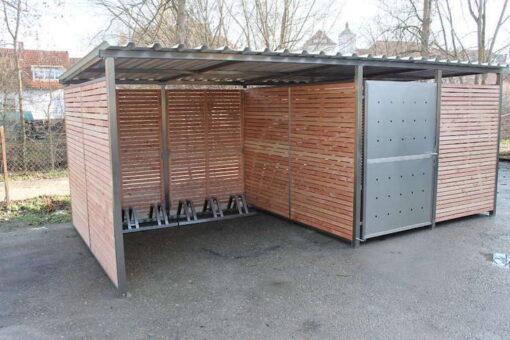 Fahrradgarage aus Holz