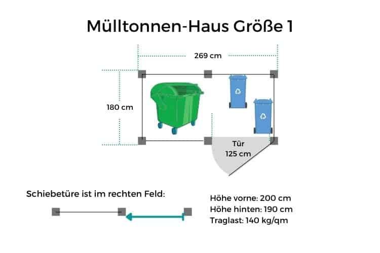 Mülltonnen-Haus GR1