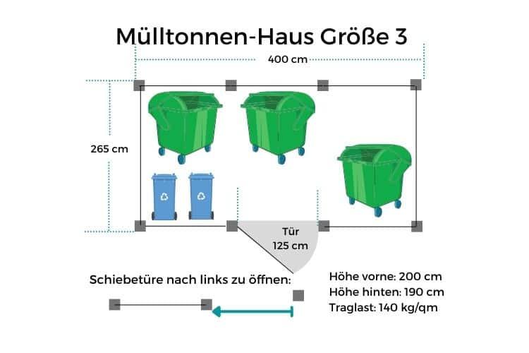Mülltonnen-Haus GR3