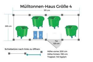 Mülltonnen-Haus GR4
